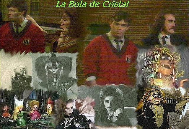Collage de imágenes del programa La bola de cristal (*)
